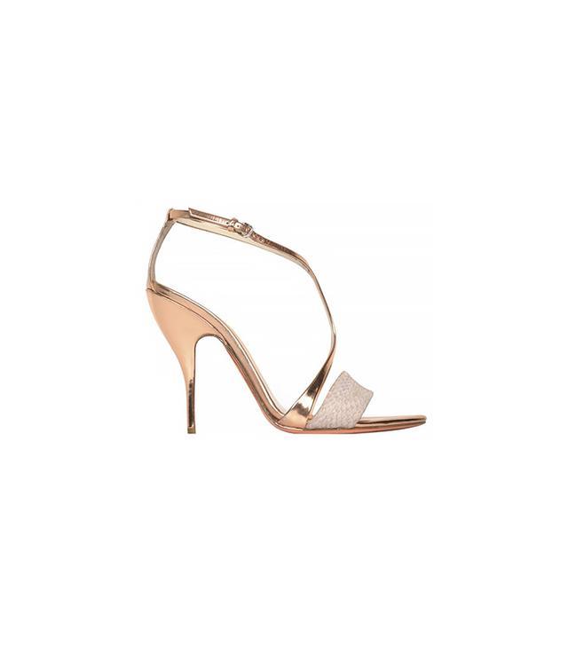 Narciso Rodriguez Blush Specchio T-Strap Sandals