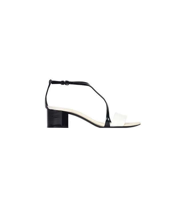 Narciso Rodriguez Black + White Mid Heel Sandals