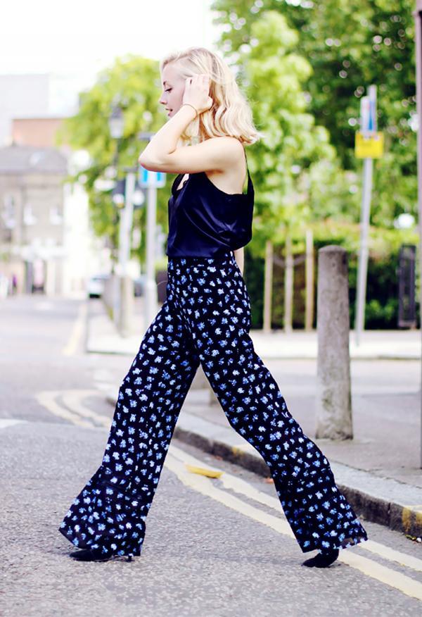 Lace Blouse + Floral Pants