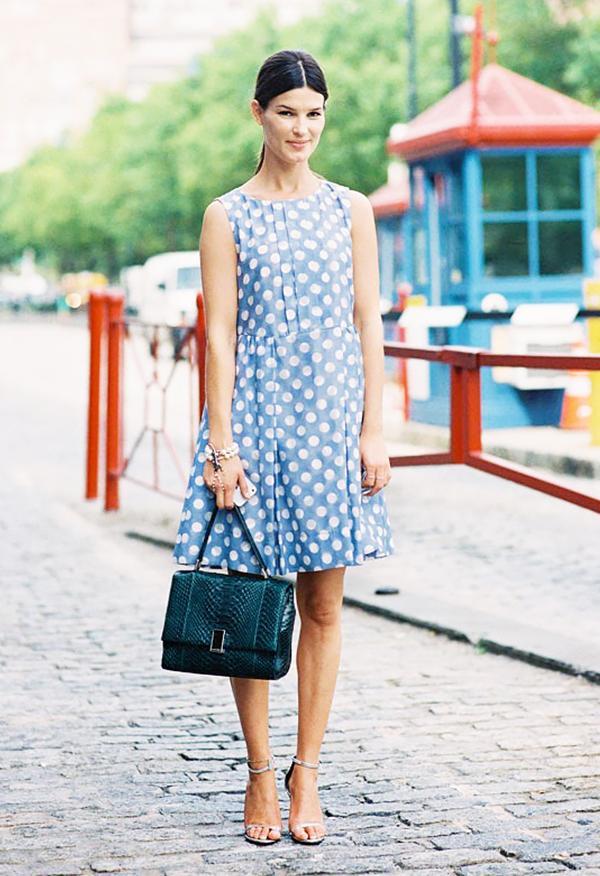 Printed Dress + Dainty Heels