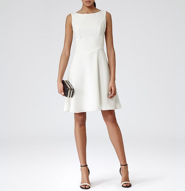 Reiss Pleat Back Dress