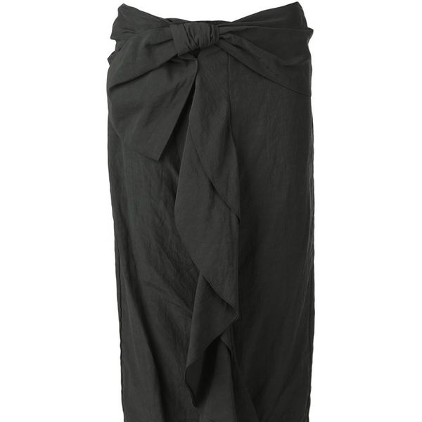 Marni draped ruffle midi skirt