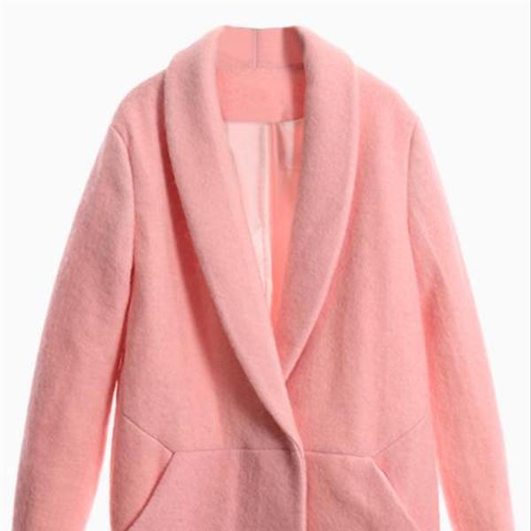 Choies Pink Lapel Coat