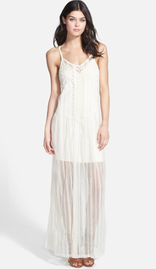 ASTR Sheer Lace Maxi Dress