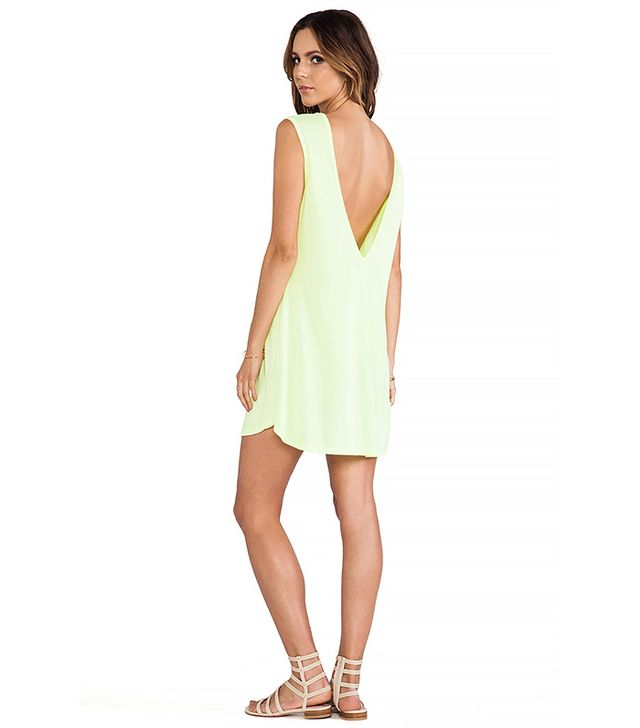 Michael Lauren Lazer Deep V Tank Dress