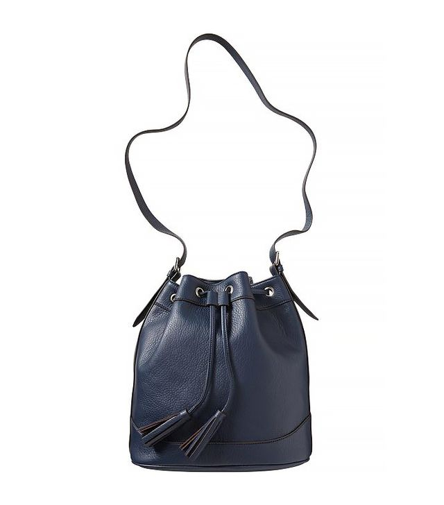 Old Navy Faux-Leather Tasseled Bucket Bag