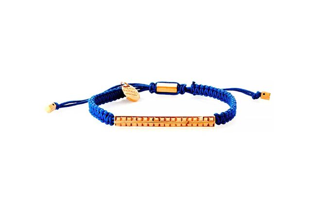 Henri Bendel Pave Deco Bar Macrame Bracelet