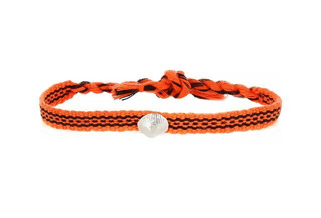 Dezso by Sara Beltrán Shell Woven Friendship Bracelet