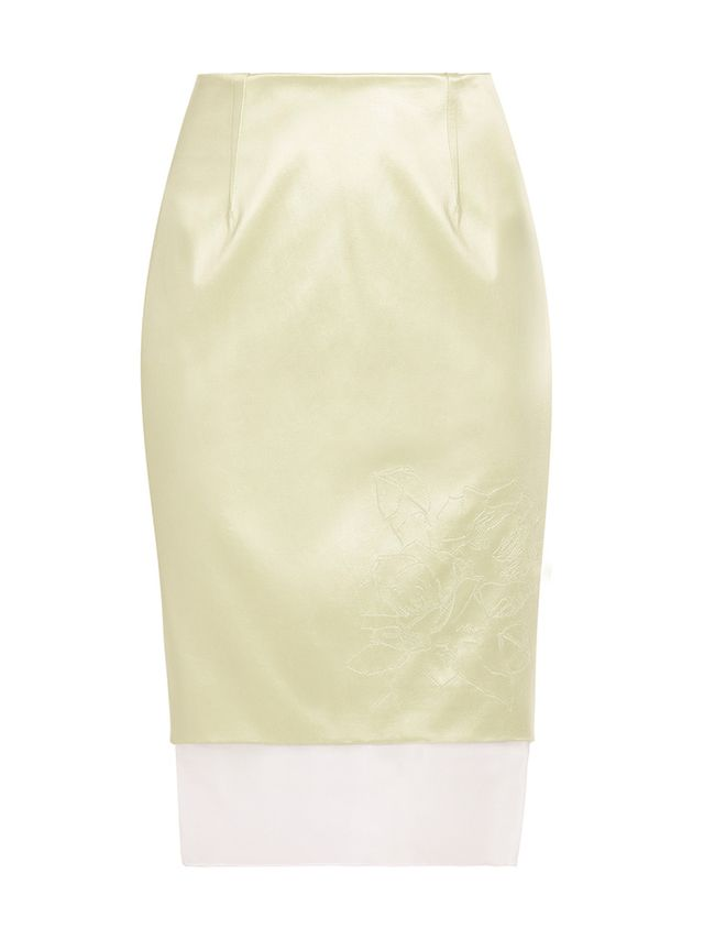 Prabal Gurung Organza Hem Pencil Skirt