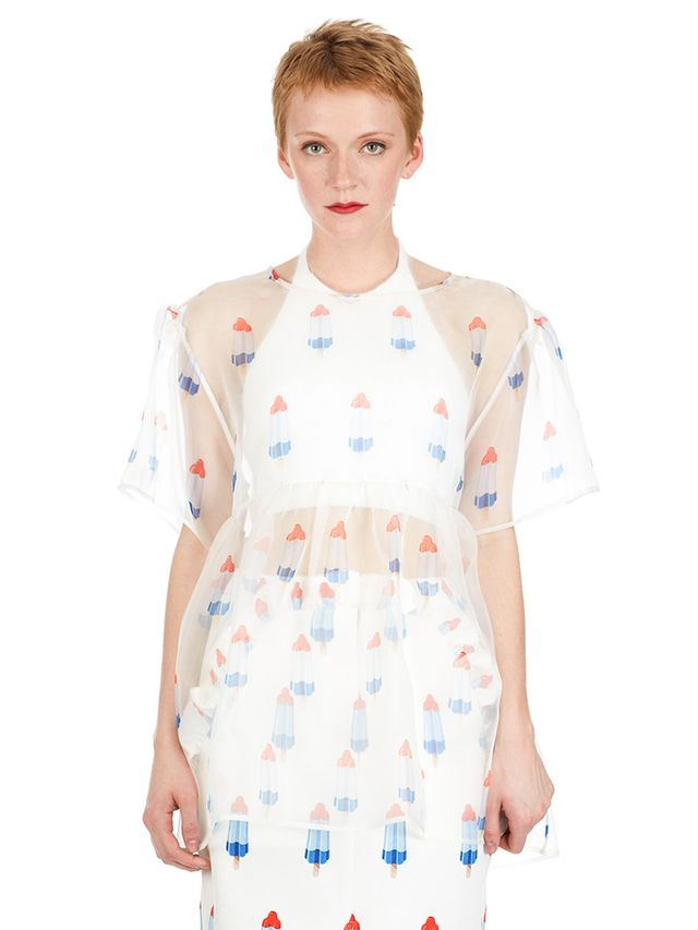 Pushbutton Transparent Popsicle Dress