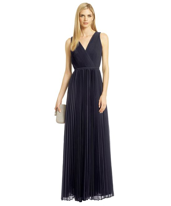 Halston Heritage Paprazzi Pleat Gown