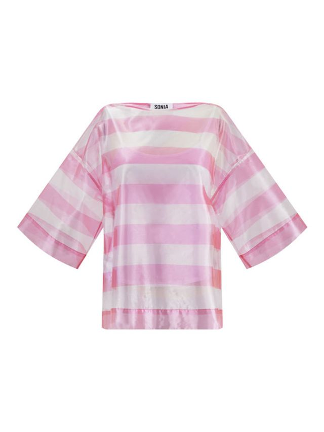 Sonia by Sonia Rykiel Transparent Stripe Top