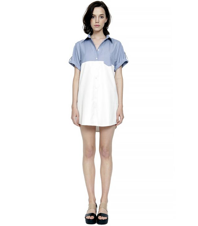 Wren Contrast Chambray Shirt Dress