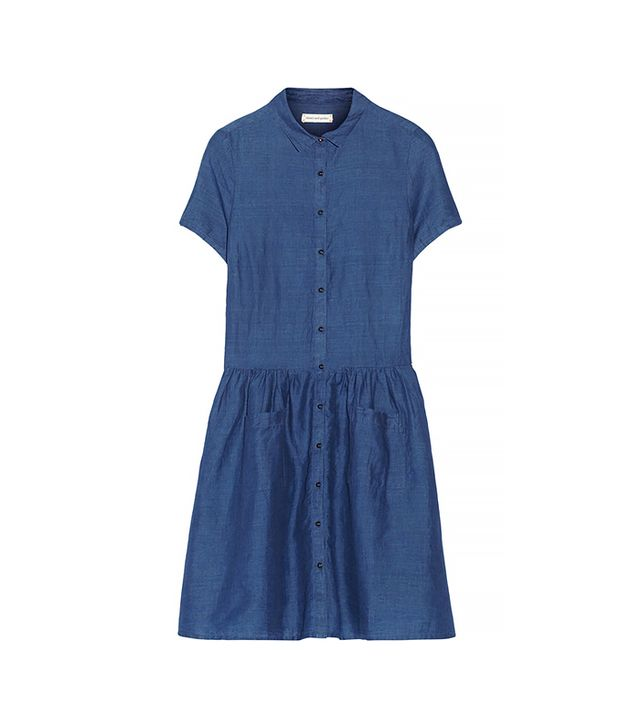Chinti and Parker Schoolgirl Linen and Cotton-Blend Chambray Dress