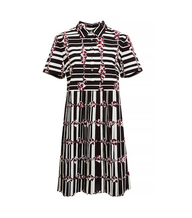 Suno Pleated Shirt Dress
