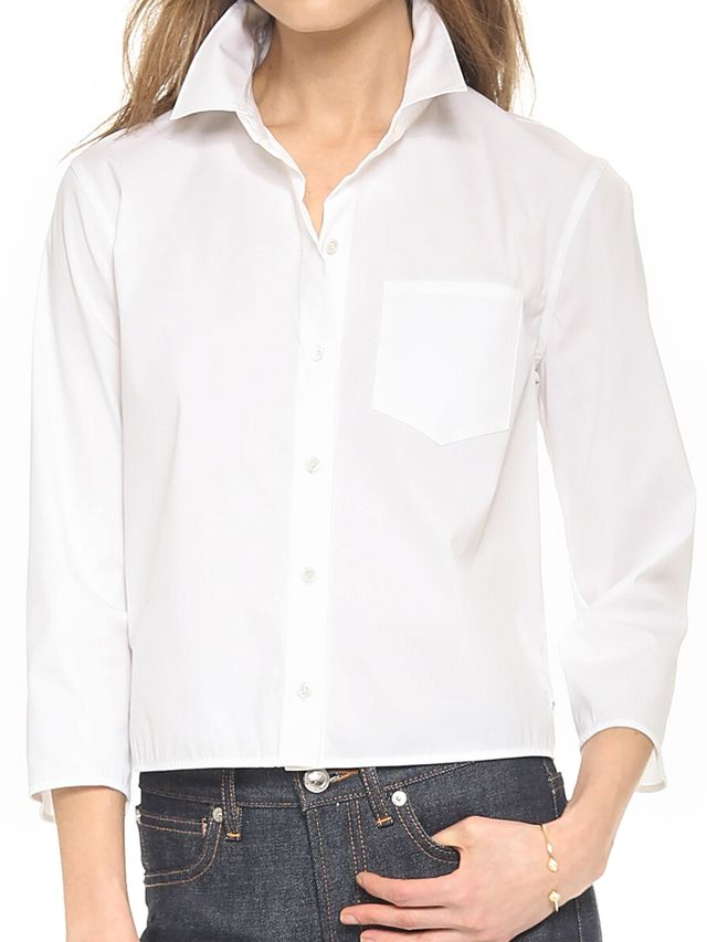 Theory Luxe Lerylynn Button Down Shirt