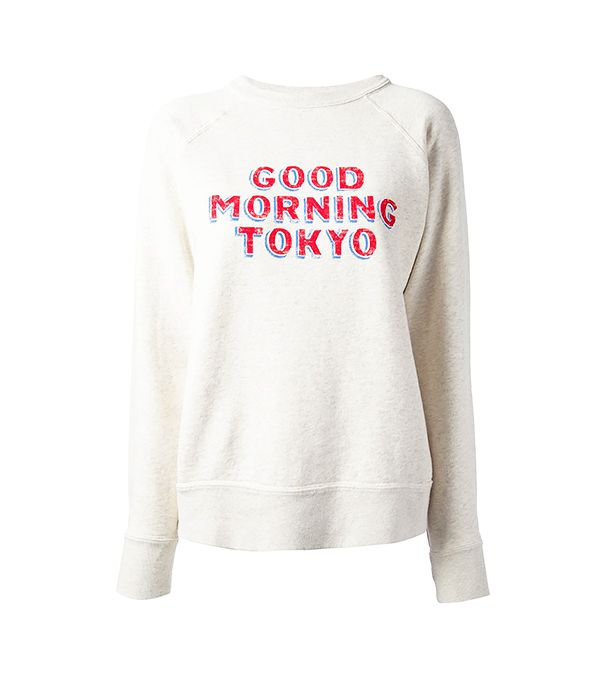 Isabel Marant Étoile Halen Good Morning Tokyo Printed Sweater
