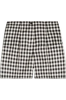 Rochas  Checked Woven-Silk Shorts