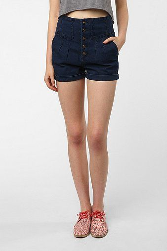 Urban Outfitters High-Rise Button-Up Short