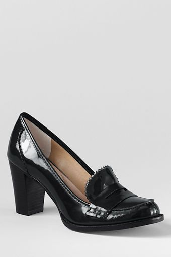 Lands' End  Hargrave Mid Heel Loafers