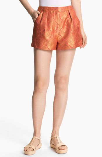 Elizabeth and James   Stevie Metallic Jacquard Shorts