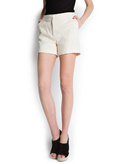 Mango Boucle Shorts