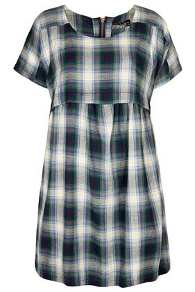 Topshop Check Smock Dress
