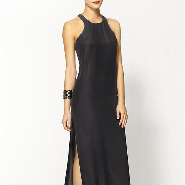 Amanda Uprichard  Silk Slit Maxi Dress
