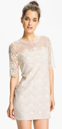 Max & Cleo  Lillian Scalloped Lace Minidress
