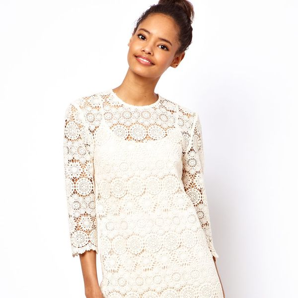 ASOS  Shift Dress In Crochet Lace