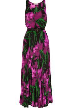 MICHAEL Michael Kors  Floral Print Crepe Maxi Dress
