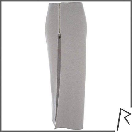Rihanna for River Island  Grey Thigh Split Sweat Maxi Skirt