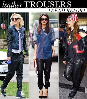 Your Celeb-Inspired Style Guide To Wearing Baggy Leather Jeans Now