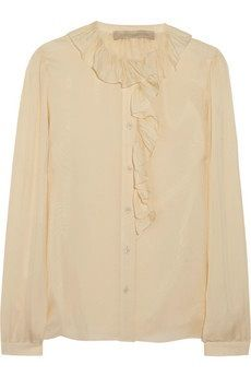 Vanessa Bruno  Ruffled Silk-Gauze Blouse