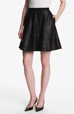 Miss Wu  Leather Circle Skirt