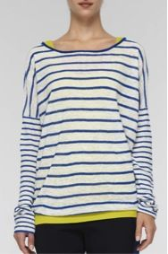 Vince  Vince Mixed Stripe Linen Sweater
