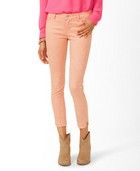 Forever 21 Mineral Wash Cropped Skinnies