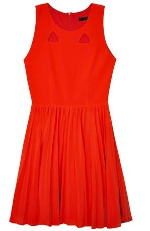 Wren Wren Red Marianna Cut-Out Dress
