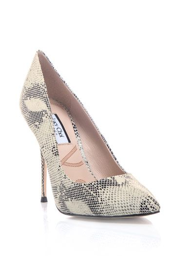Lucy Choi Snake Print Aster Shoes