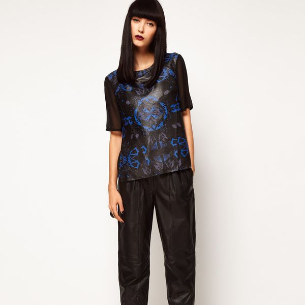 ASOS Black by Markus Lupfer Leather Peg Pants