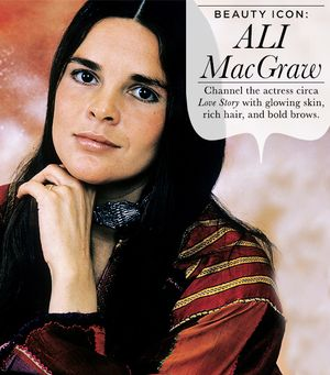 Beauty Icon: Ali MacGraw Circa 1970's Love Story