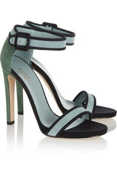 Gucci  Color-Block Suede Sandals
