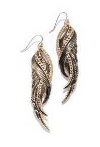 Rachel Rachel Roy  Feather Earrings