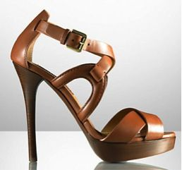 Ralph Lauren Ralph Lauren Tan Strappy Sandals