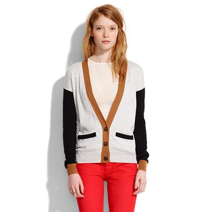 Madewell Colorblock Cornershop Cardigan