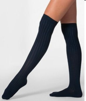 American Apparel American Apparel Ribbed Modal Over-the-Knee Socks