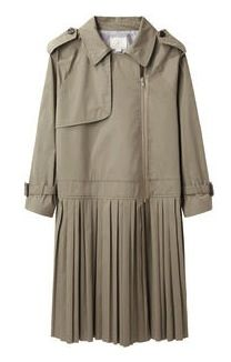Band of Outsiders Band of Outsiders Pleated Skirt Trench