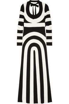 Marc Jacobs Striped Scuba-Jersey Maxi Dress