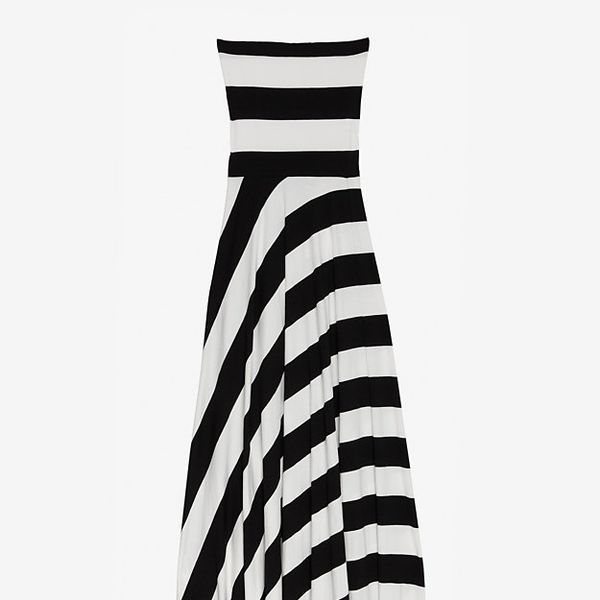Nadia Tarr Striped Jersey Dress