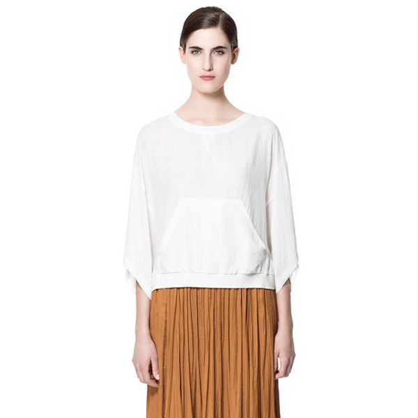 Zara Flowing Mid-Length Skirt